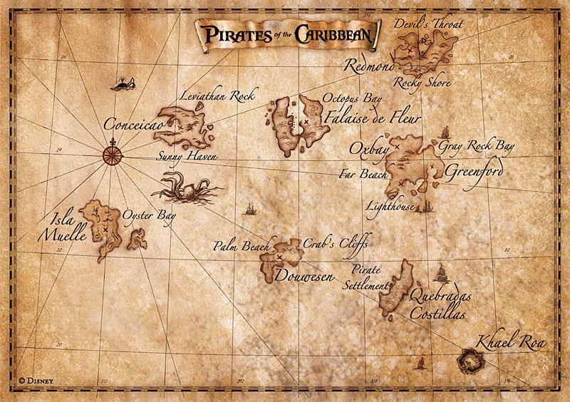 Карта моря пираты карибского моря